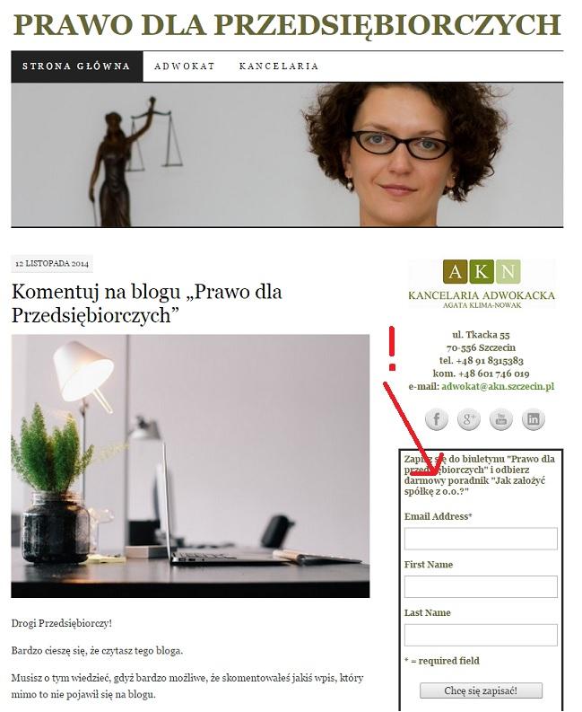biuletyn bloga Prawo dla Przedsiębiorczych