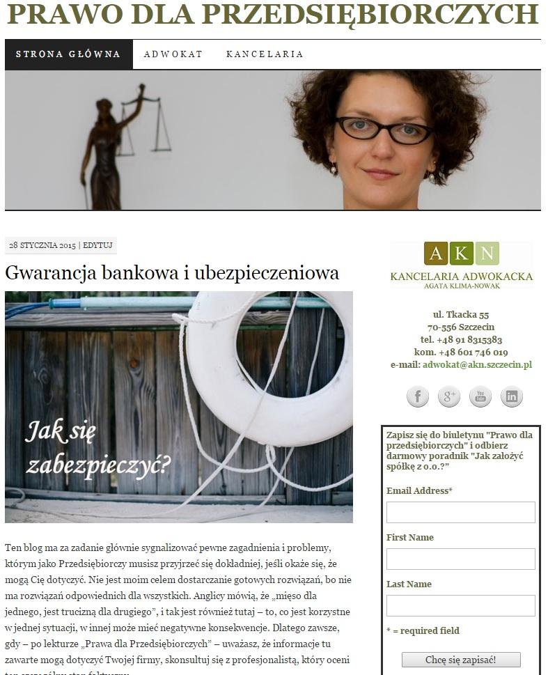 blog o prawie dla przedsiębiorców